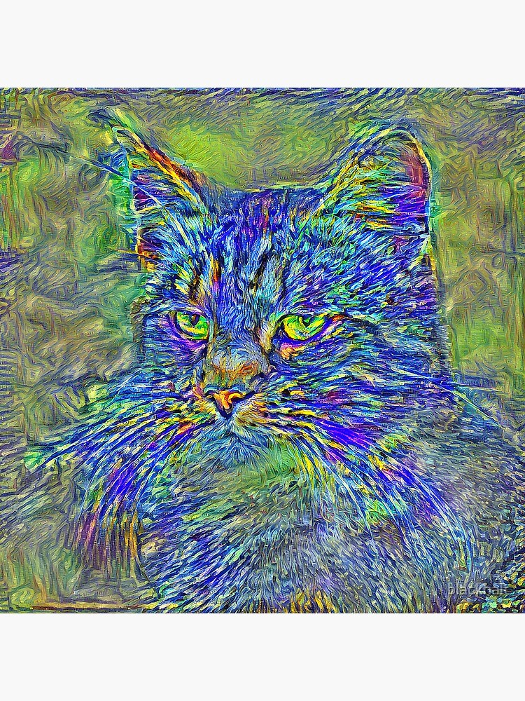 Artificial neural style Post-Impressionism cat by blackhalt