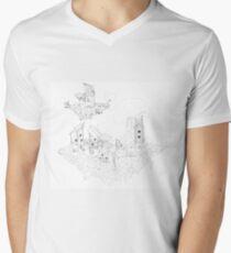 Floating Community - Black and White Men's V-Neck T-Shirt