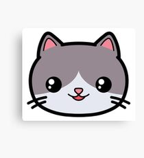 Cat Kawaii Cute Canvas Print