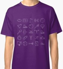 Sports Icons Pictograms Pattern Classic T-Shirt