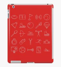 Sports Icons Pictograms Pattern iPad Case/Skin