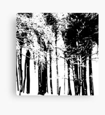 Trees Silhouette Canvas Print