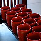 Red Coffee Cups by Pamela Hubbard