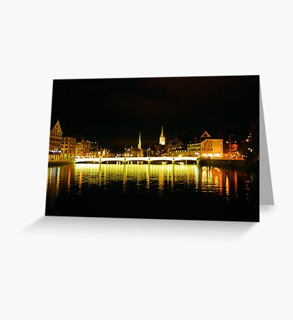 Zurich by night Greeting Card