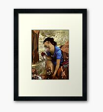 "Woe-Man Series 11: ""oohh (sigh), that feels so good"" Framed Print"