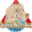 Spanish Water Dog On Board - Cream by DoggyGraphics