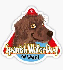 Spanish Water Dog On Board - Brown Sticker