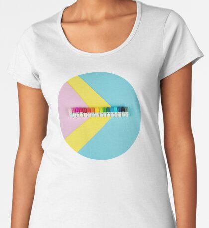 Glückliche kleine Regenbogenpillen Frauen Premium T-Shirts