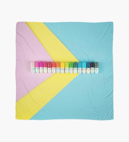 Glückliche kleine Regenbogenpillen Tuch