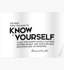 know yourself - adam smith Poster