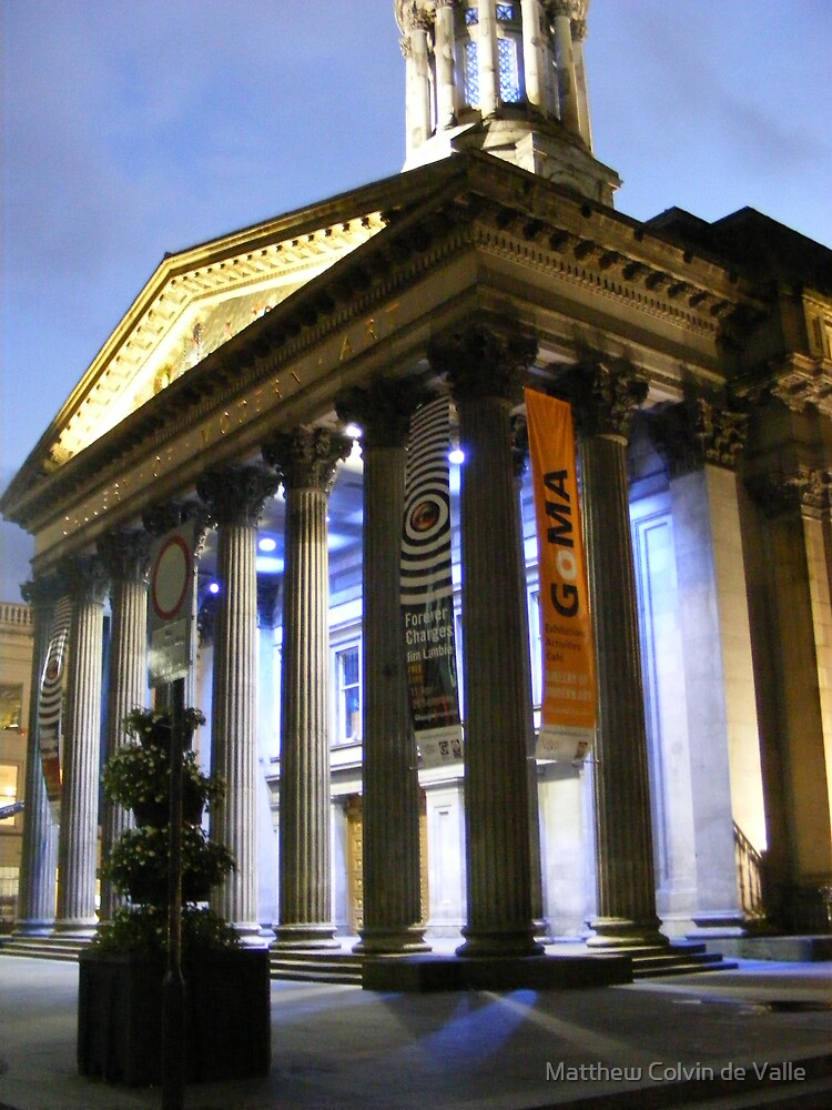 Glasgow's Gallery of Modern Art at night by Matthew Colvin de Valle