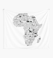 Typography poster. Africa map.  Wall Tapestry