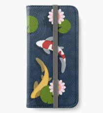 Vinilo o funda para iPhone Estanque de peces Koi japonés
