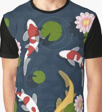 Japanese Koi Fish Pond Graphic T-Shirt