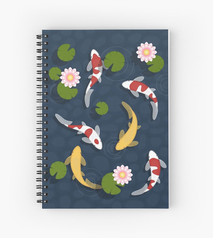 Japanischer Koi Fischteich von Natalia Linnik