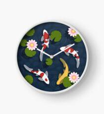 Japanese Koi Fish Pond Clock