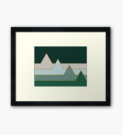 Green Mountains #redbubble #decor #buyart Framed Print