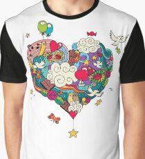 Love Doodle Graphic T-Shirt