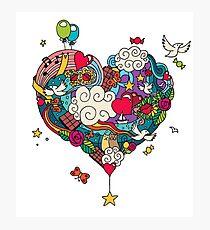 Love Doodle Photographic Print