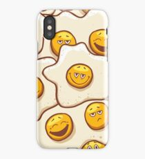Fried Eggs Background Seamless iPhone Case