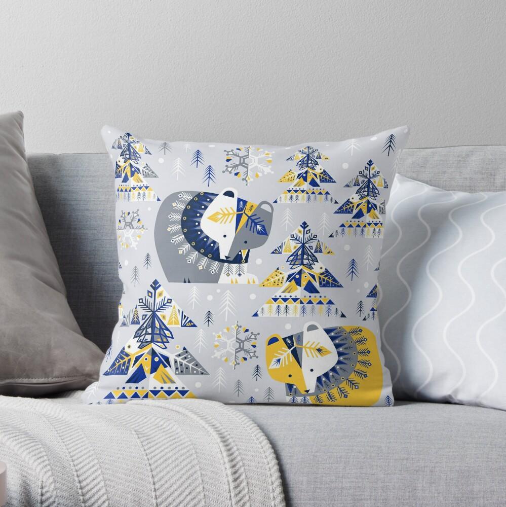 Geometric Winter Throw Pillow