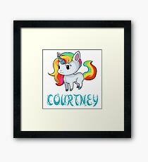 Courtney Unicorn Sticker Framed Print