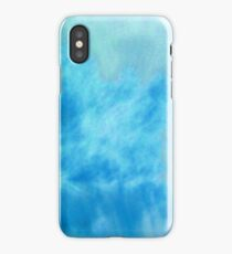 Wavy Bluish Cloud Photography iPhone Case