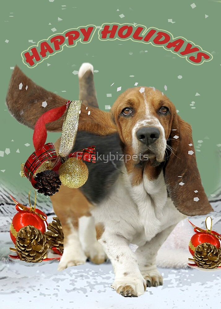 Basset Hound Bad Ear Christmas Cards and Gifts \