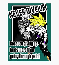 Never Give Up! Photographic Print