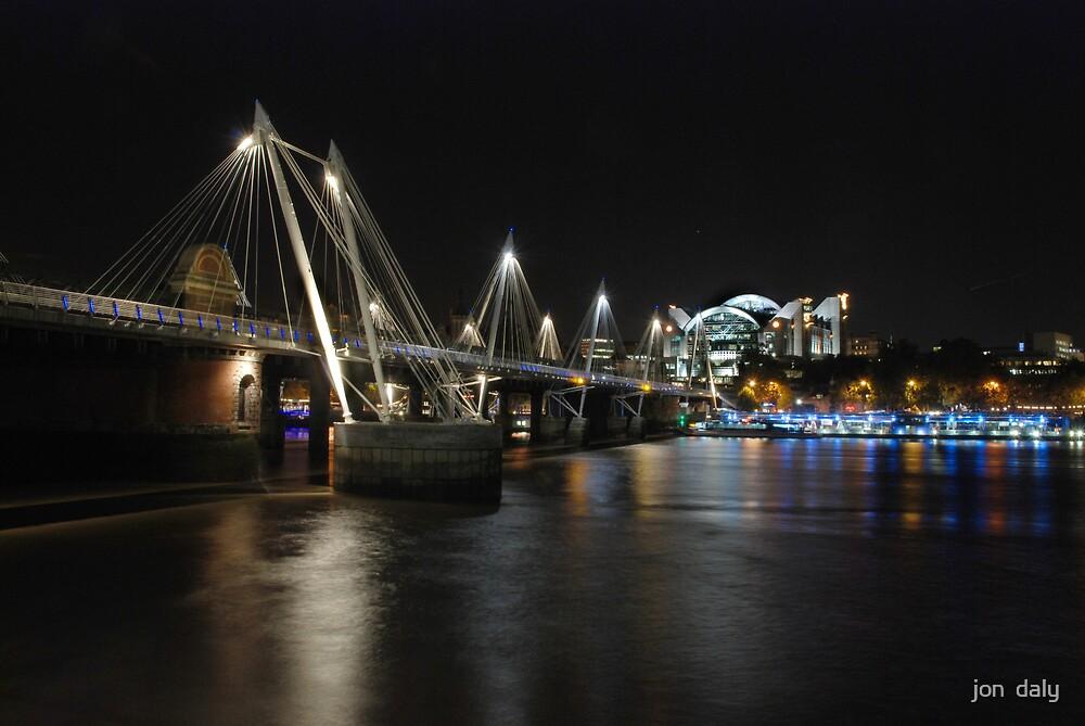 hungerford bridge by jon  daly
