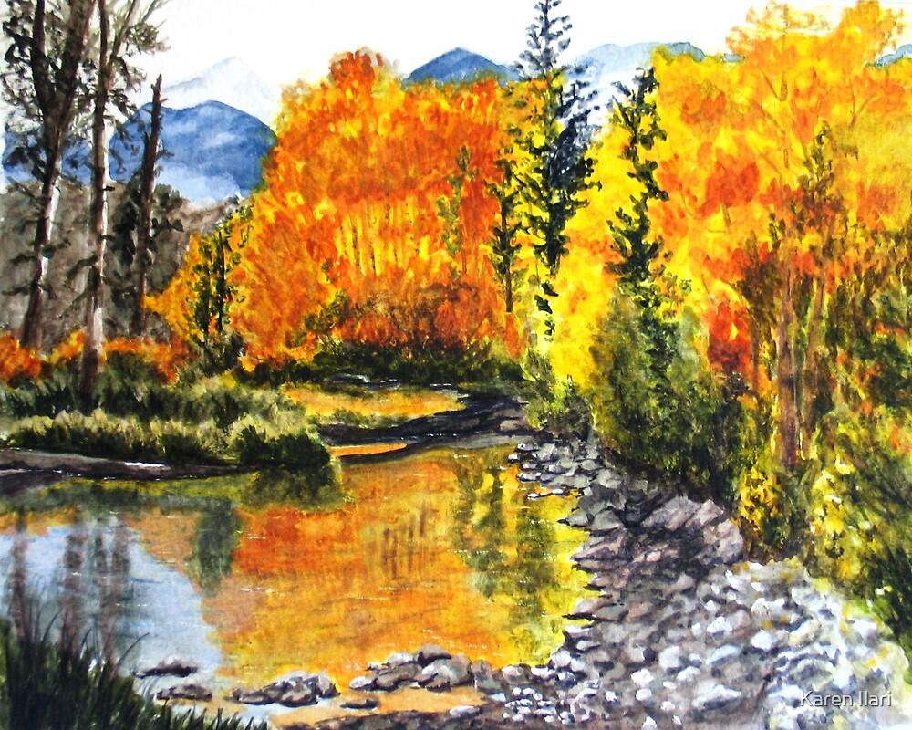 Autumn Lake by Karen Ilari