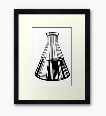 Black Beaker Framed Print