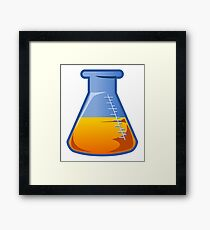 Orange Flask Framed Print