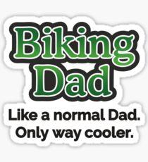 Biking Dad Sticker