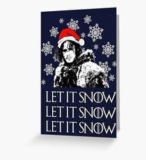 Lass es schneien - Weihnachten Grußkarte
