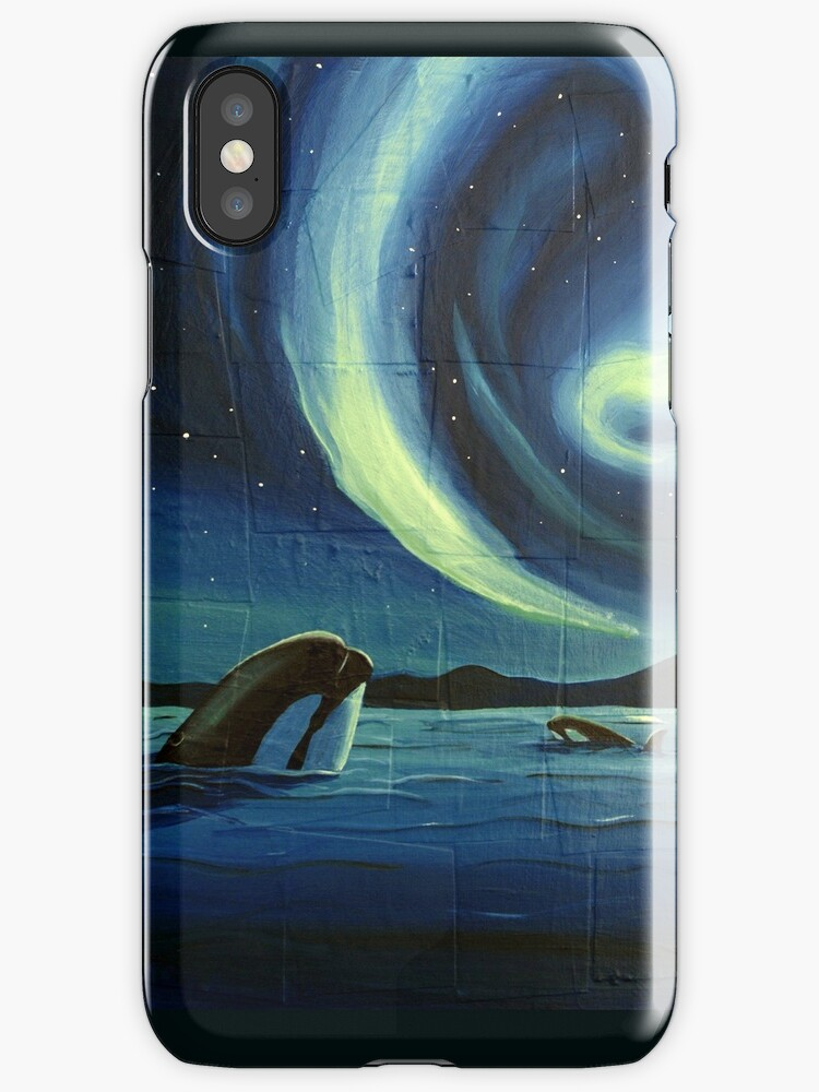 Whale Watching phone Case by Sarah  Mac Illustration