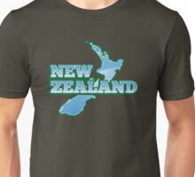 NEW ZEALAND map with NZ Unisex T-Shirt