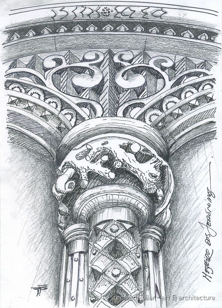 Mosteiro dos Jerónimos. column detail. Jerónimos Monastery. stone art by terezadelpilar ~ art & architecture
