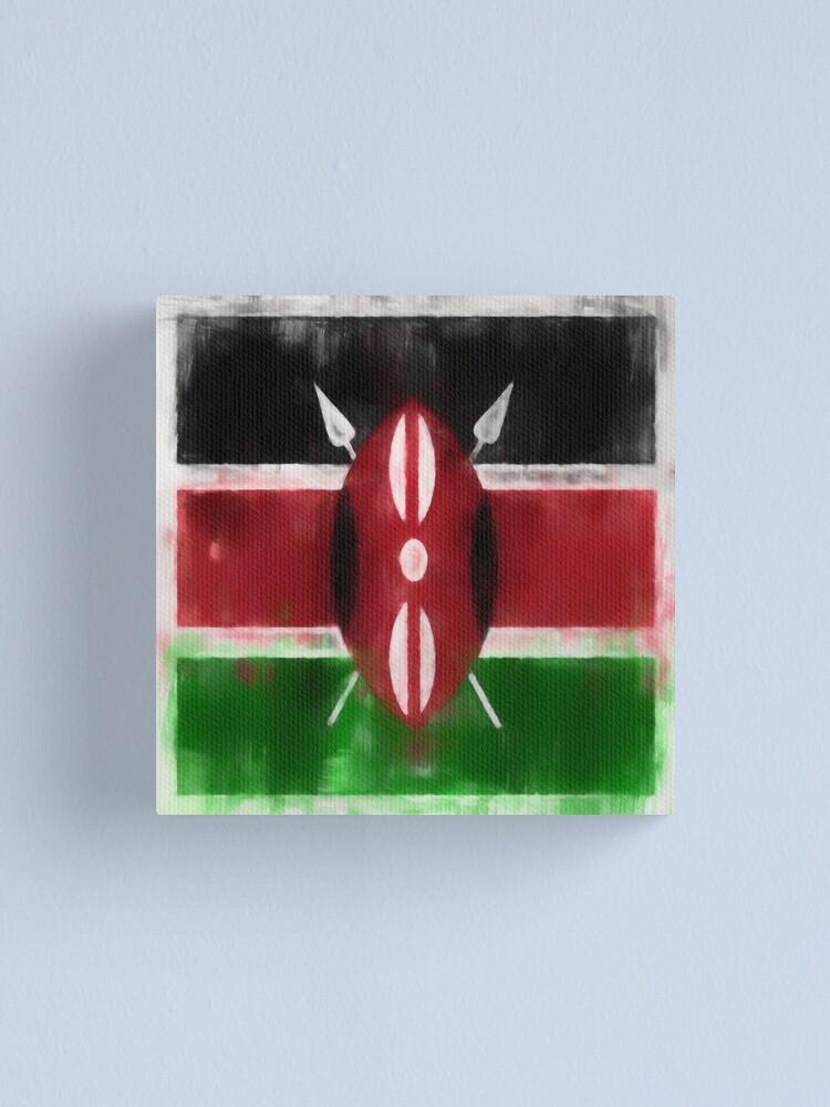 Alternate view of Kenyan Flag No. 2, Series 1 Canvas Print