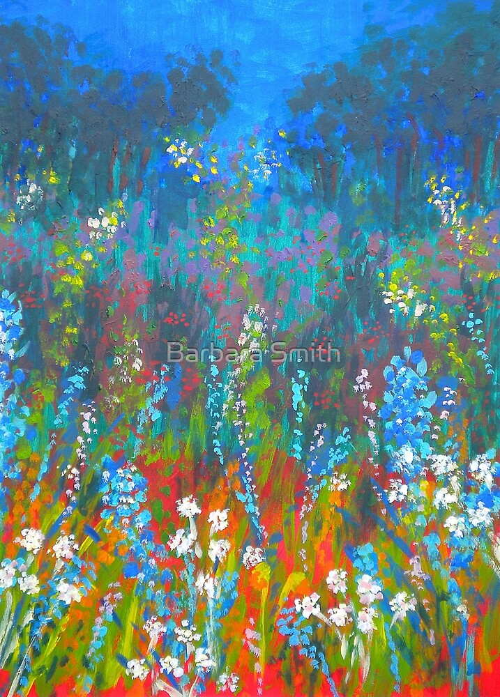 Flowers at Dusk by Barbara Smith