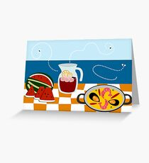 Beach Bar Greeting Card
