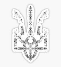 Pray For Ukraine - Ukrainian Trident Coat of Arms Sticker