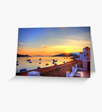 Halki Sunrise Greeting Card