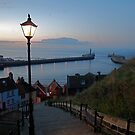 Whitby from the Abbey Steps at Sunset by dougie1