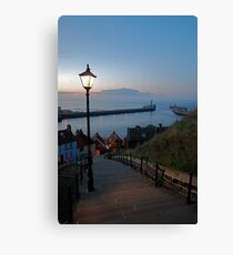 Whitby from the Abbey Steps at Sunset Canvas Print