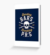 Bending Bars Breaking PRs Greeting Card