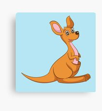 Sweet kangaroo Canvas Print