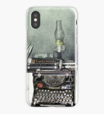 Antique Underwood At The Bar U Ranch iPhone Case/Skin