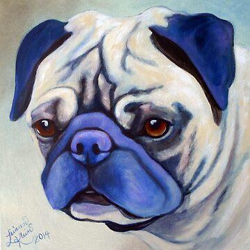 I love Pugs by harleydunnit