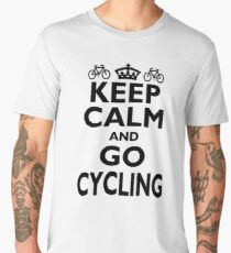 Cycling Hobby Gift-Keep Calm and Go Cycling - Funny Birthday Present Men's Premium T-Shirt